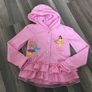 Girls Disney Store Pink Princess Hoodie